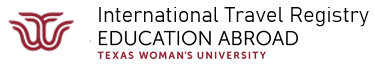 International Travel Registry - Texas Woman's University